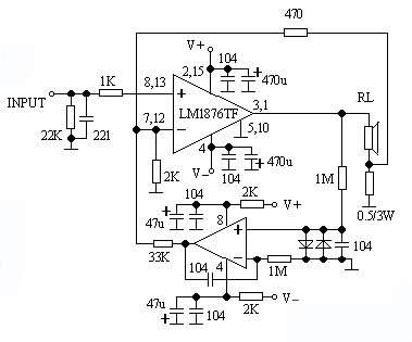 本放大电路设计为直流伺服恒流功放电路的形式