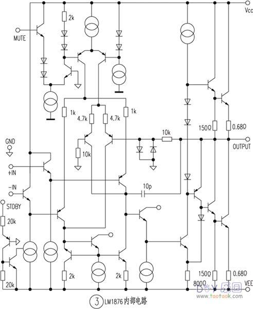 lm1876功放电路内部结构引脚资料