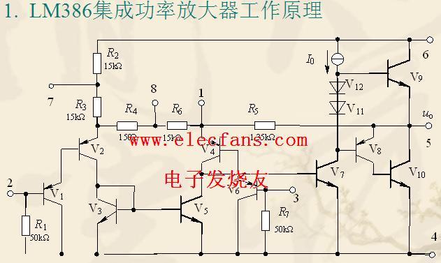 51单片机实例_LM386内部电路应用资料