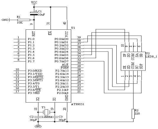 使用单片机IO并行口直接驱动LED显示技术的实验...