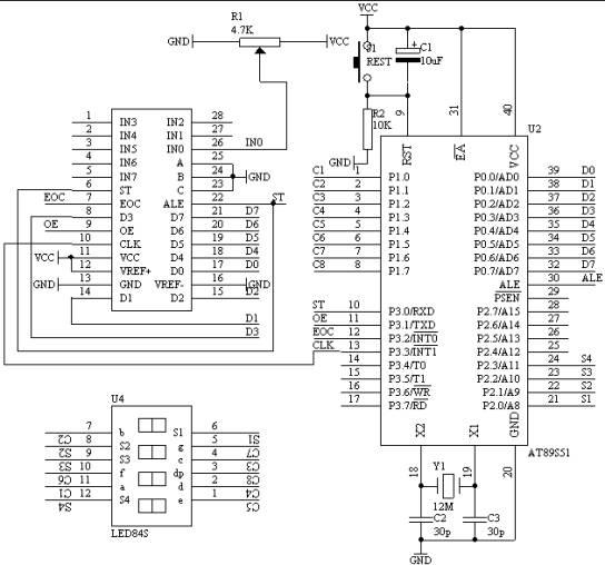 使用单片机实现数字电压表的资料详细说明