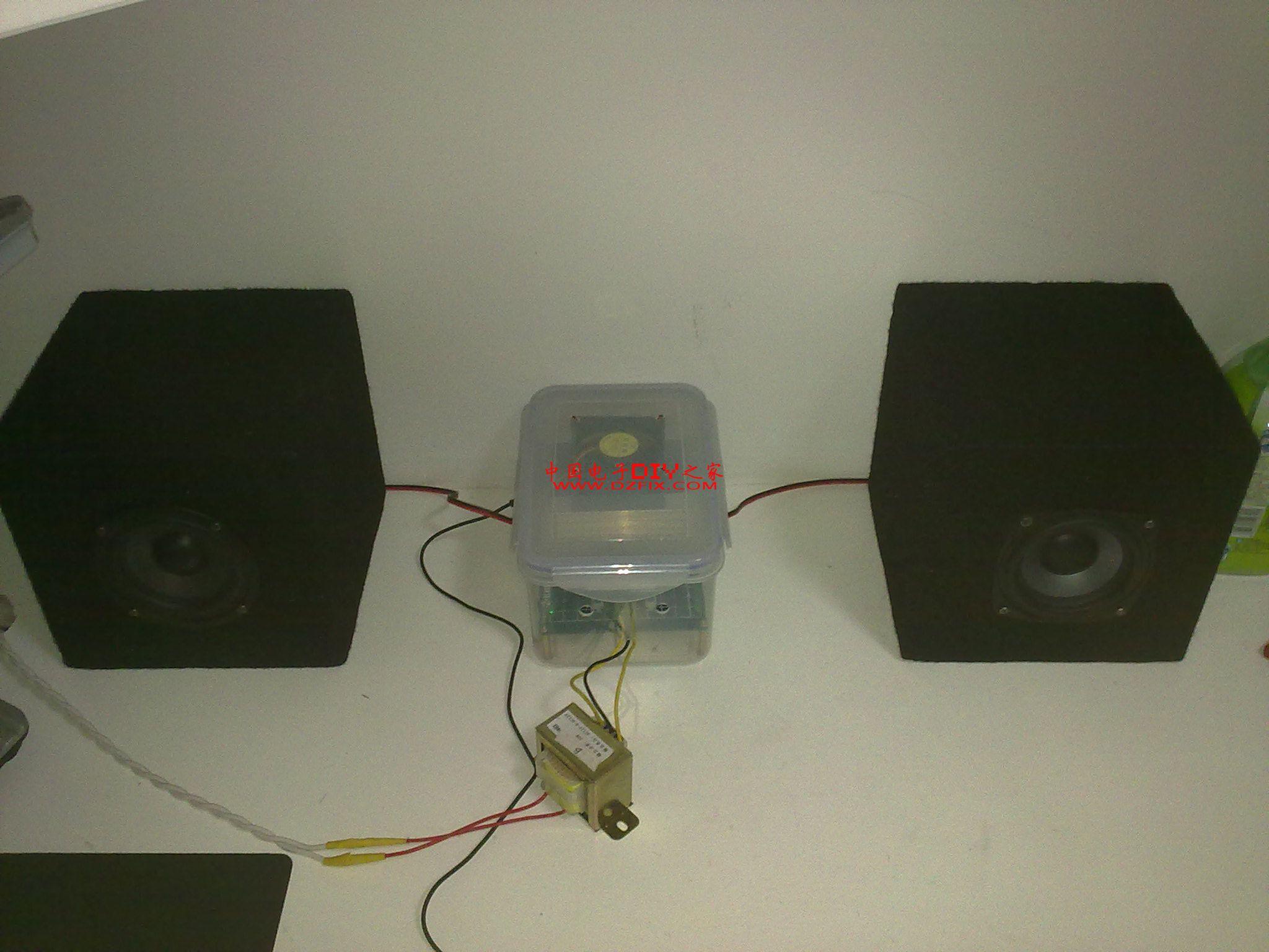 diy tda2030a btl 2.0 电平指示 音响 - 音响/功放