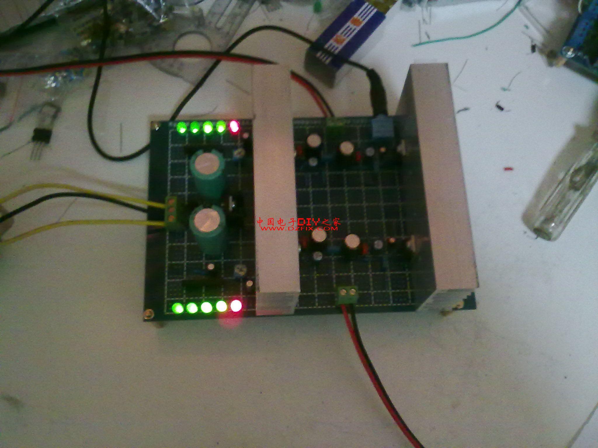 diy tda2030a btl 2.0 电平指示 音响