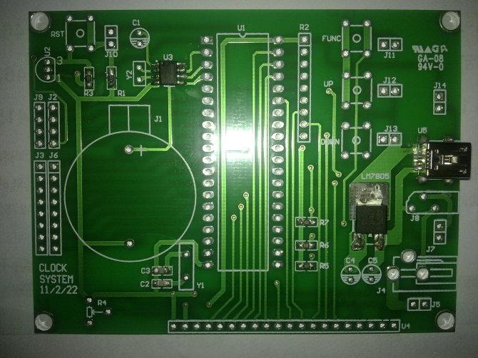 lcd12864 电子时钟+测量温度+节日提醒