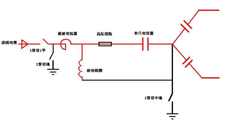 因此两侧电压为零;而电容器还带有额定相