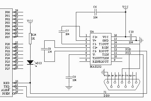 max232串口接线图