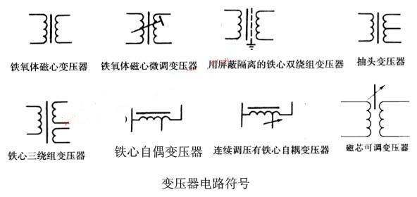 电子变压器电路符号及图片识别