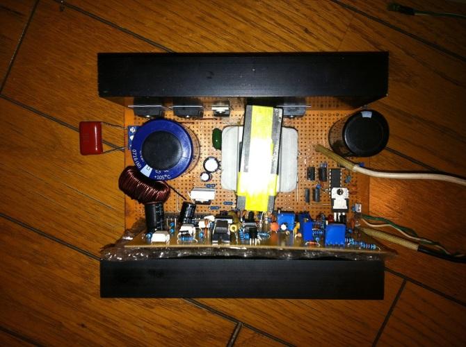 全硬件纯正弦逆变器电路图