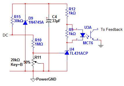 参考3525准闭环前级的电路,我使用tl431 pc817反馈