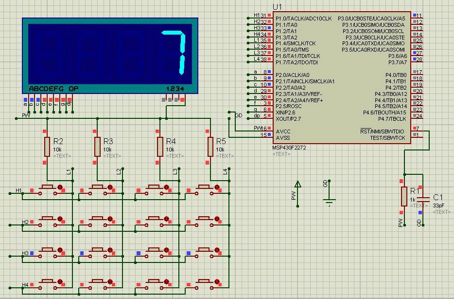 MSP430430ff22722272单片机中断v键盘4X4键盘图纸焰火程序魔兽世界蓝色图片
