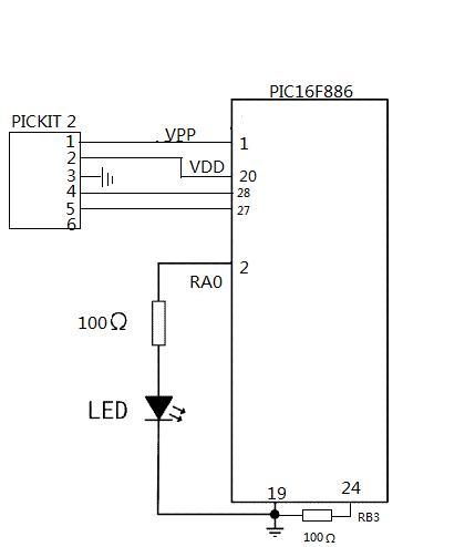 pic单片机采用查询定时器的闪灯实验报告