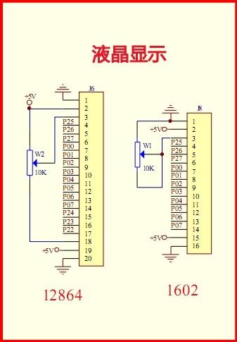 单片机驱动1602液晶电路图及c51程序