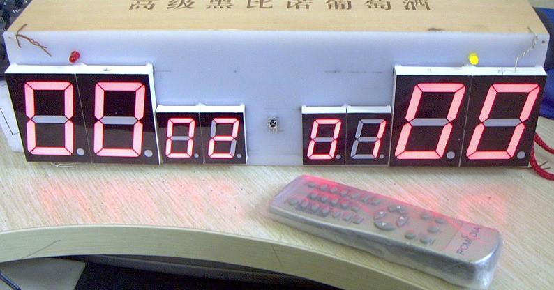 红外遥控电子记分牌制作