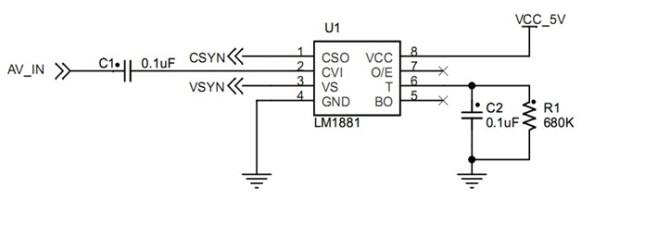飞思卡尔模拟摄像头信号调理电路