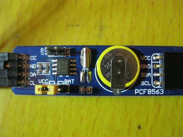 pcf8563实时时钟芯片51单片机简单例程