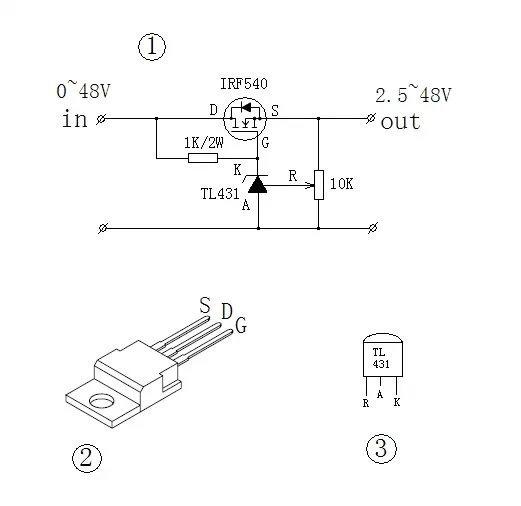 图(1)为大功率dc—dc调压器的电路原理图;图(2)为irf