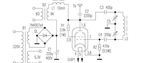 fu7做短波电台电路图