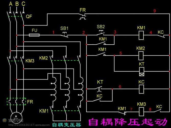 各种组合电器接线图