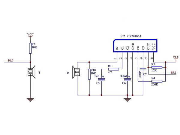 超声波测距仪_超声波发送接收电路