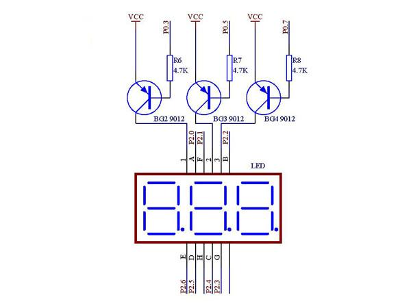 超声波测距仪设计_数码管显示电路图