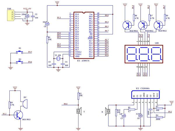 69 mcu综合技术区 69 超声波测距仪设计           该系统主电路