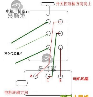 倒顺开关接线方法图片详解