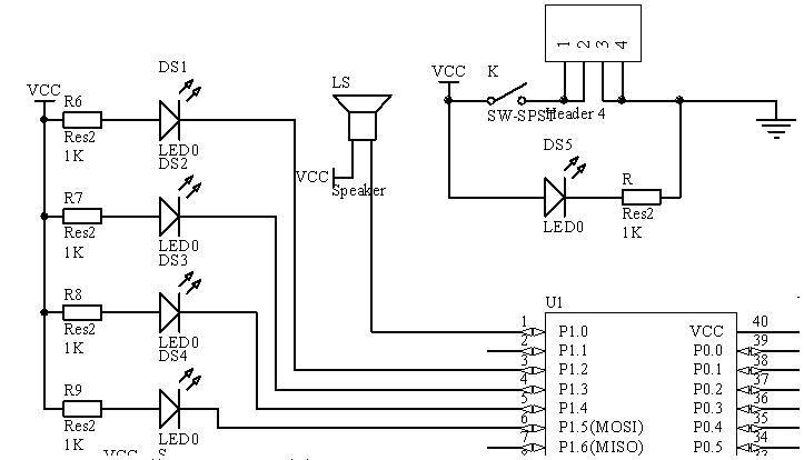 单片机实现的数字钟(c51)