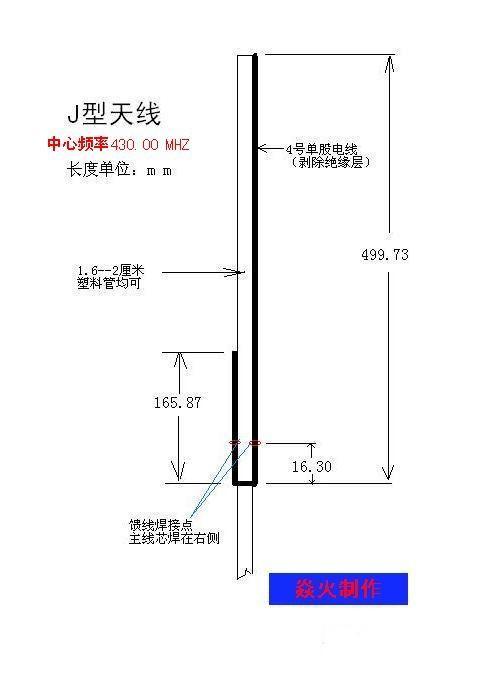 j型天线制作图 - 无线/红外/rfid