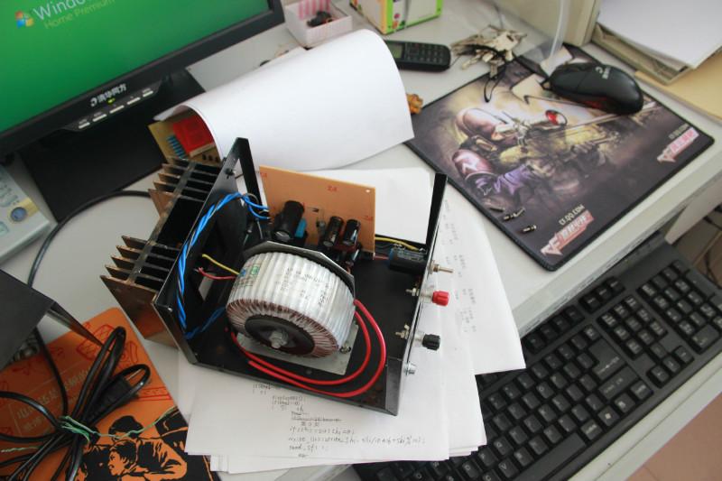 做了个lm338k可调电源