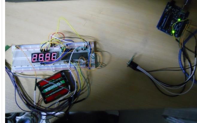 arduino + STC89C52RC + nRF24L01 制作远程测温系统