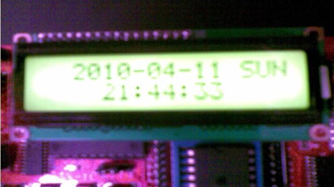 我用单片机写的电子时钟