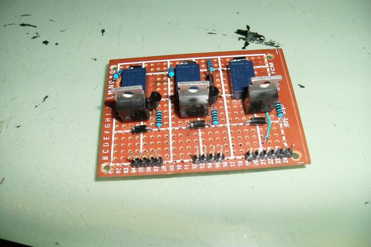 单个继电器控制正反转及调速电路原理图
