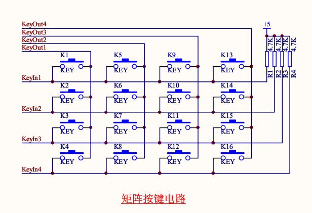单片机矩阵按键定时器消抖程序源码