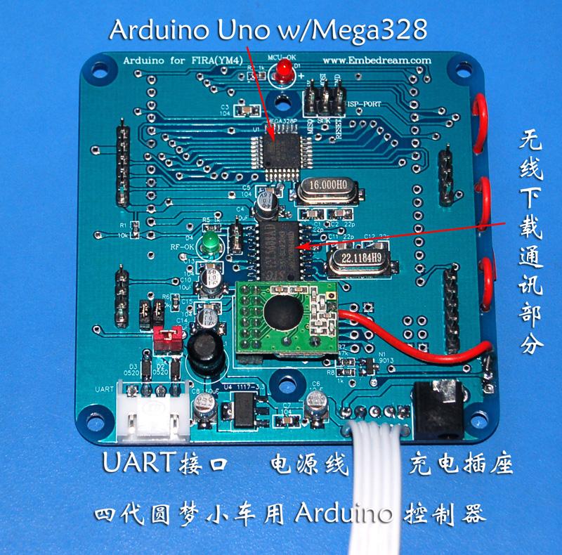 控制板核心是 arduino 控制器,使用mega328p
