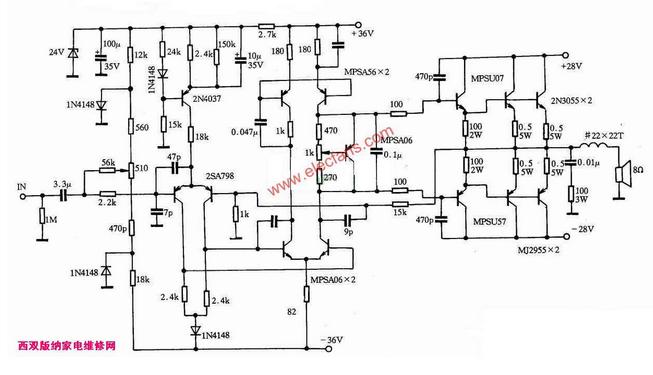 其输入级是一典型的双极型差分放大电路,采用恒流源供电,有两个优点