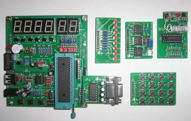 6 个数码管 (可做记数器,遥控码显示,频率计,电子钟等各种显示实验)