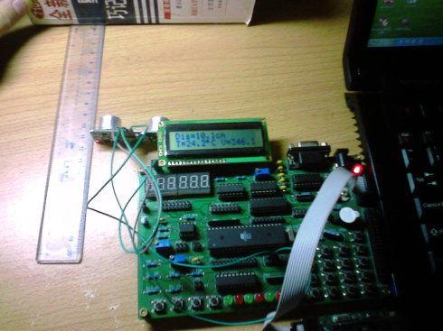 模块接收头接收到超声波后产生信号由电路滤波整形