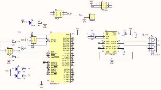 单片机最小系统原理图?是stc89c52rc的?